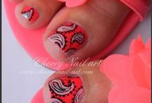 My toes nail art / by Cherry Nail Art (Aurore)