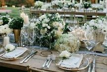 RECEPTION TABLE STYLING ♡ / From rustic romance to vintage prettiness, these wedding receptions have made us swoon!