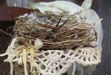 Hand made Bird Nests by Me, & others. / Nests and tutorials