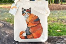 Tote Bags / Colourfully illustrated tote bags, accessories, and fashion! Handmade crafts by designer/makers...