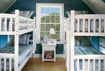 1 Nautical Boys Bedroom / ideas for fun Bunk rooms for boys for our lake or coastal home.
