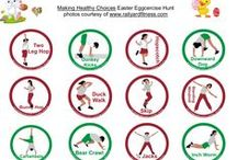 Easter / hunt, eggcercise hunt, basket ideas, egg filler ideas, exercise egg hunt, activity egg hunt