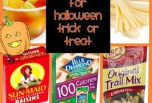 Halloween Healthy Fun with Food / ideas for fun things to make using fruits and vegetables for Halloween parties, healthy treats to handout for trick or treat