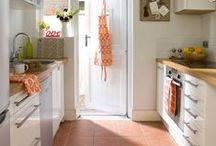 Classic Orange Kitchen / Inspired by our classic orange colors for a kitchen