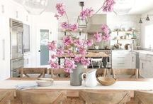 Rustic Pink Kitchen / Inspired by our rustic pink colors for a kitchen  / by Home Decor Colors