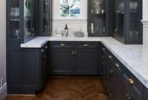 Modern Blue Kitchen / Inspired by our modern blue colors for a kitchen
