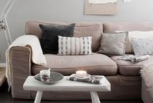 Classic Pink Living Room / Inspired by our classic pink colors for a living room