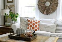Rustic White Living Room / Inspired by our rustic white colors for a living room
