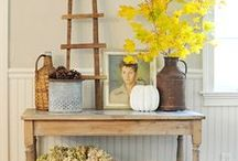 Rustic Yellow Living Room / Inspired by our rustic yellow colors for a living room