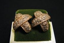 Diamonds & Rhinestones / Etsy Vintage Earrings and Other Jewelry www.thejewelrystash.com