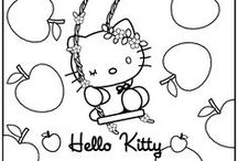 coloriage hello kitty/ hello kitty kleurprenten/ hello kitty coloring