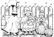 coloriage halloween/ halloween kleurprenten/ halloween coloring