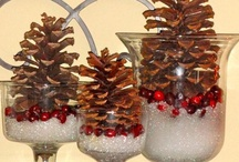 ❈ Pinecones & Nuts ❈              So many cute ideas for using Pinecones and assorted Nuts!!