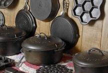 ✿ Cast Ironware  ✿ / These were so much fun repinning ....I remember well my Mother cooking with cast iron and my grandmother!