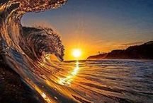 NATURE - SUNRISE / SUNSET / The many faces of the sun's beauty / by Erlinda Kantor