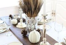 DIY Thanksgiving Centerpieces / Be inspired and find great ideas on how to set your table and put together an unforgettable Thanksgiving centerpiece