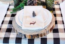 Holiday in the Forest / Rustic woodsy inspiration to keep us warm and cozy this holiday season