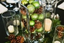 Christmas Centerpieces / Be inspired by the magical display of Christmas tabletop centerpieces