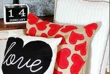 Show a little Love / Add a little red, pink, floral, and hearts to get your home ready for Valentines Day.