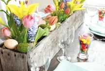 Easter Tablescapes / Endless ideas and products to make a perfect table scape or centerpiece just in time for Spring