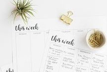 Printables / Printables for Home, Work, Office, and Organization