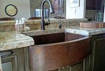 Premier Copper   Kitchen Sinks / Our beautifully elegant copper kitchen sinks come in two main varieties: traditional and apron-front, where the front-facing section of the sink is visible.