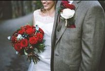 red wedding lookbook / inspiration for weddings with a red colour scheme