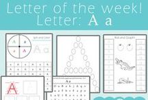Letter of the Week Series / Printables, Crafts, and other amazing resources to help teach preschoolers the alphabet, one letter at a time!