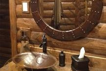 Rustic Interior Design / Rustic interior design ideas for the kitchen and bath featuring copper sinks, tubs and accessories