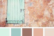 Color Pallets / Color pallet ideas for graphic design work and decor.