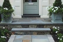 front step ideas / by Lindsey A. Turner @ Thrift and Shout