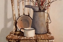 Primitive Desires / I love, above all other design elements, old primitives. The idea of passing through years of use, hands touching, useful necessaries, is earthy and pure. / by Karen Elvidge-Hughes
