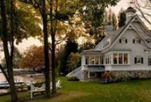 Homes {Lakeside}  / We admit we are partial to classic lakefront homes. Many of the homes we have designed are along the shores of New Hampshire's breathtaking lakes.
