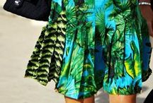 Tropical Print Trend  / palm trees, Hawaiian flowers, bright colors...   / by Lindsey A. Turner @ Thrift and Shout