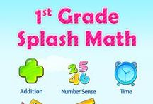 First Grade Splash Math Games. 1st grade kids learning addition and subtraction facts / Splash Math – 1st Grade Games is a collection of fun and interactive math problems aligned to Curriculum Standards. The app reinforces math concepts with self-paced and adaptive practice anytime, anywhere (works on iPhone, iPod, iPad).  TOPICS COVERED 1. Addition 2. Subtraction 3. Advanced Addition 4. Advanced Subtraction 5. Mixed Operations 6. Place Value 7. Counting and Comparison 8. Time 9. Measurements 10. Addition Facts 11. Subtraction Facts 12. Data and Graphs 13. Geometry 14. Money