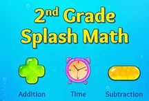 Second Grade Splash Math Games. Learning addition facts, subtraction numbers for kids / Splash Math – 2nd Grade games is a collection of fun and interactive math problems aligned to Common Core Standards. The app reinforces math concepts with self-paced and adaptive practice anytime, anywhere (works on iPhone, iPod, iPad).  TOPICS COVERED 1. Place Value 2. Number Sense 3. Add within 20 4. Subtract within 20  5. Add within 100 6. Subtract within 100 7. Add within 1000 8. Subtract within 1000 9. Time 10. Money 11. Measurements 12. Data  13. Geometry