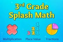 Third Grade Splash Math Games. Kids learning multiplication facts, times tables & division / Splash Math – 3rd Grade app is a collection of fun and interactive math problems aligned to Curriculum Standards. The app reinforces math concepts with self-paced and adaptive practice anytime, anywhere.  TOPICS COVERED 1. Place Value  2. Number Sense  3. Addition  4. Subtraction 5. Four Digit Addition 6. Four Digit Subtraction  7. Multiplication Facts  8. Division Facts  9. Fractions  10. Time  11. Measurements and Data  12. Geometry  13. Decimals  14. Multiplication  15. Division  16. Money