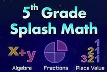 Fifth Grade Splash Math learning games. Kids practice multiplication tables & fractions to decimals / Splash Math Grade 5 app is a collection of fun and interactive math problems aligned to Common Core Standards. The app reinforces math concepts with self-paced and adaptive practice anytime, anywhere (works on iPad, laptops and desktops).   TOPICS COVERED 1. Place Value  2. Number Sense  3. Algebra  4. Multiplication  5. Division 6. Fractions  7. Decimal Arithmetic 8. Measurements 9. Geometry