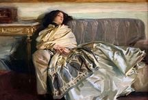 "John SINGER Sargent / John Singer Sargent (12 January 1856 – 14 April 1925) was an American artist, considered the ""leading portrait painter of his generation"" for his evocations of Edwardian era luxury.[1][2] During his career, he created roughly 900 oil paintings and more than 2,000 watercolors, as well as countless sketches and charcoal drawings. His oeuvre documents worldwide travel, from Venice to the Tyrol, Corfu, the Middle East, Montana, Maine, and Florida."