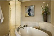 Spaces {Bathrooms} / Designing relaxing and spa-like bathrooms
