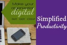 Simplified Productivity / Find out how to get more done with less stress around the home with a family and real life. / by Mystie Winckler