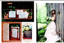 Rustic Elegance Wedding in Copper / Rustic Elegant bespoke wedding invitations and decor with copper foil details