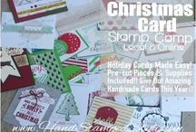 HSS Christmas Card Stamp Camp 2015 / Each year I help stampers achieve the look of beautiful holiday cards without the work! Want in on the goods? Details on blog, http://www.handstampedstyle.com / by Erin Gonzales with Hand Stamped Style