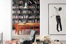 library + shelves
