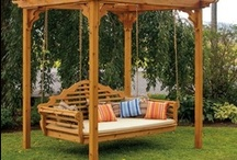 Gardens, porches, and backyard ideas / by Kathy Thompson