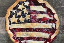 Red, White & Blue / 4th of July Crafts and recipes