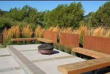Corten teräs puutarhassa - corten steel in garden