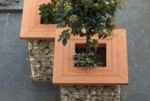 Kivikorit - gabion ideas / Ideoita kivikorien käyttöön puutarhassa ja julkisessa viherrakentamisessa