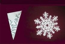 Paperilumihiutaleet - Paper snowflakes