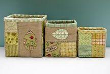 fabric baskets, buckets and bins / by Karen Ganske
